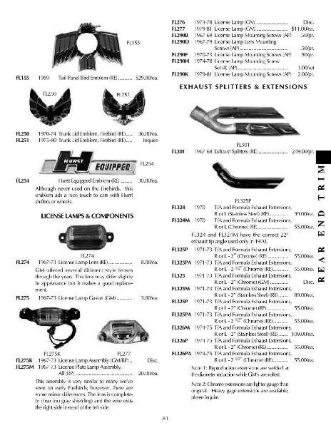 Page 81 of 2005 Classic Pontiac Firebird / Trans Am Catalog