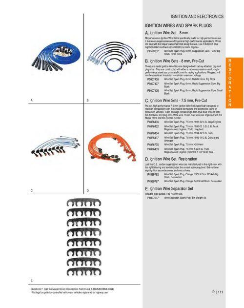 small resolution of spark plug wiring diagram 440 mopar wiring librarypage 108 of mopar performance catalog 2012 p 108