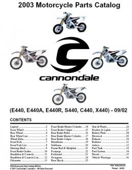 motorcycles parts list in 2003 Motorcycle Parts Catalog by