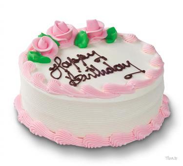 Happy Birthday Pink Cack Wallpaper