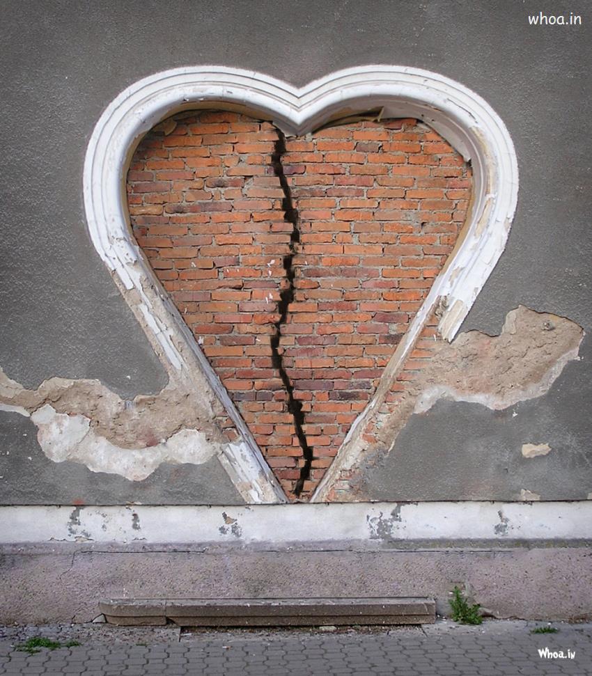 Shivaji Wallpaper 3d Break Heart In Wall Art Hd Wallpaper For Mobile
