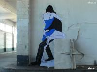 Couple Kiss 3D Wall Art In A Building Wall