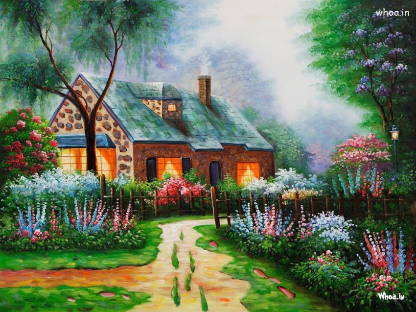 Nachural Wallpaper Full Hd Painting Hd Wallpaper Of Nature