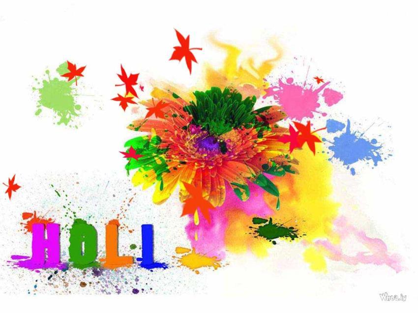 Cute Watercolor Laptop Wallpapers Colorful Holi Like A Flower Happy Holi Wallpaper