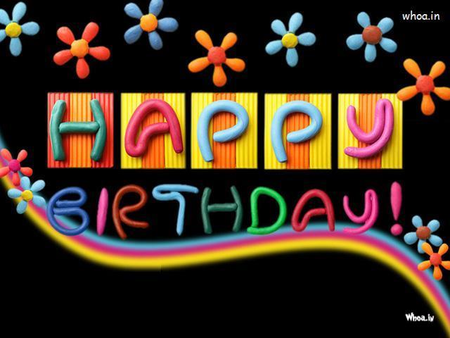 Happy Birthday Black Hd Wallpaper