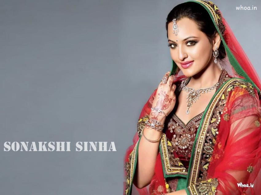 Happy Holi Hd Wallpapers With Quotes Sonakshi Sinha Hot Red Saree Wallpaper