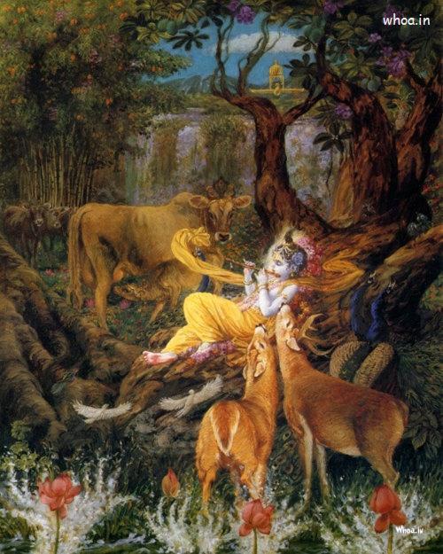 3d Hindu God Wallpapers Free Download Bal Krishna Art Painting