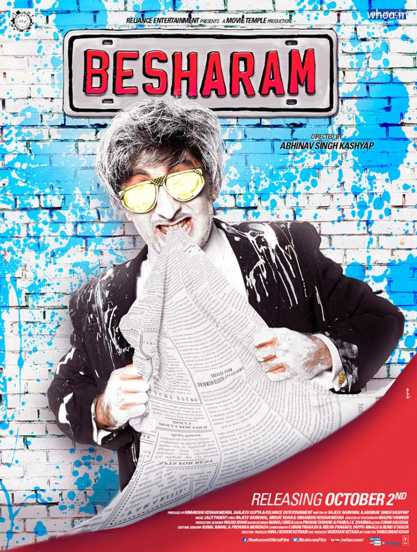 Diwali Wallpaper With Quote Besharam Movie Hd Movie Poster