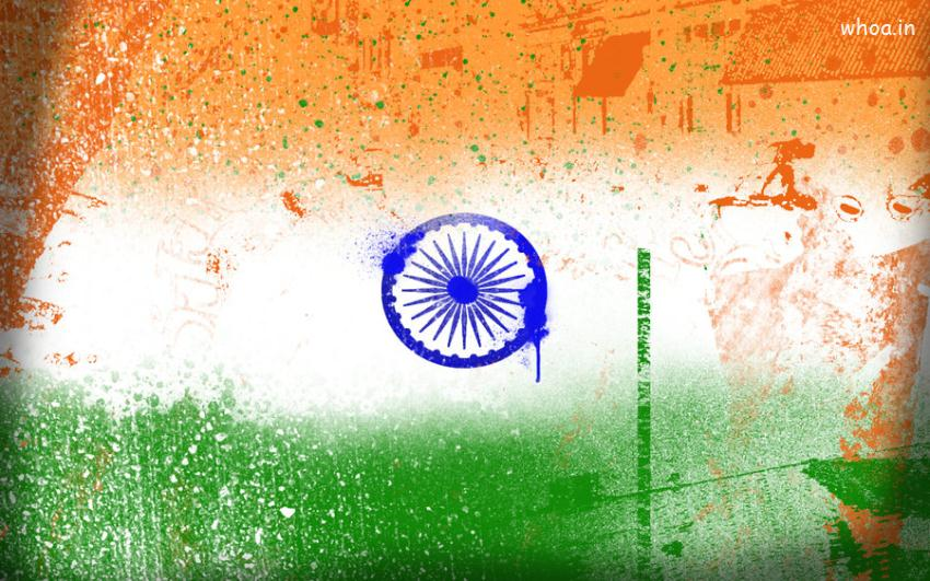 Indian Republic Day Quotes Wallpapers Happy Independence Day Color Flag Art Wallpaper