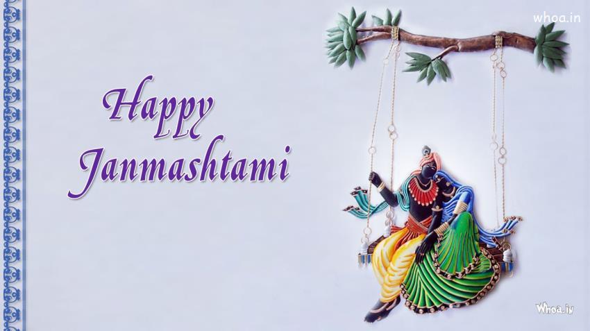 Friendship Quotes Hindi Wallpaper Happy Janmashtami Radhe Krishna Art Hd Wallpaper