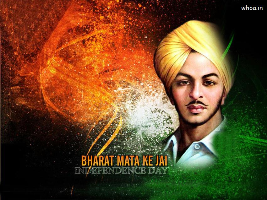 Indian Tiranga 3d Wallpaper Independence Day With Shahid Bhagat Singh Wallpaper