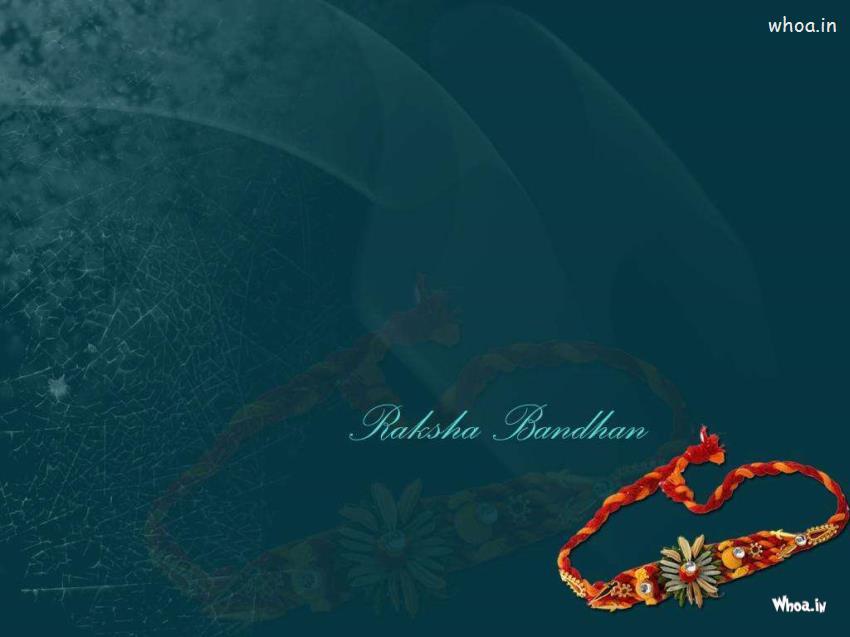 Diwali Wallpaper With Quote Raksha Bandhan Greetings Blue Wallpaper