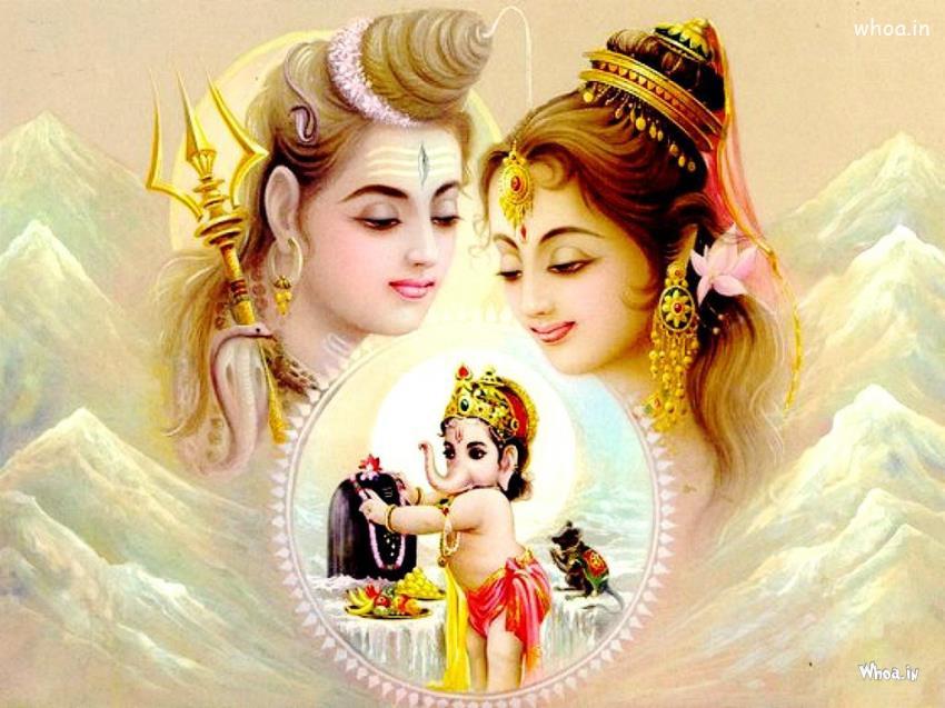 Shankar Parvati Ganesh Wallpaper
