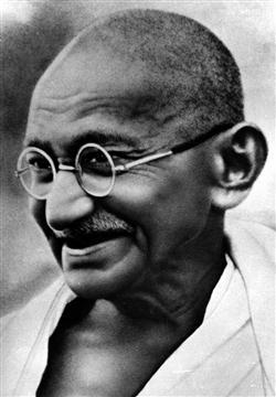 Aggressive Quotes Wallpapers Mahatma Gandhi Black And White Image