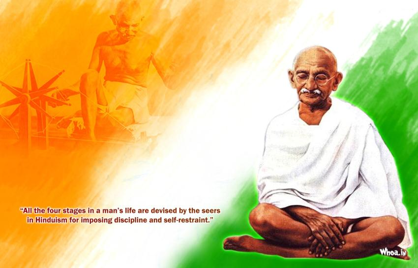 Indian Flag Wallpaper With Quotes In Hindi Gandhi Leadership Quote Wallpaper