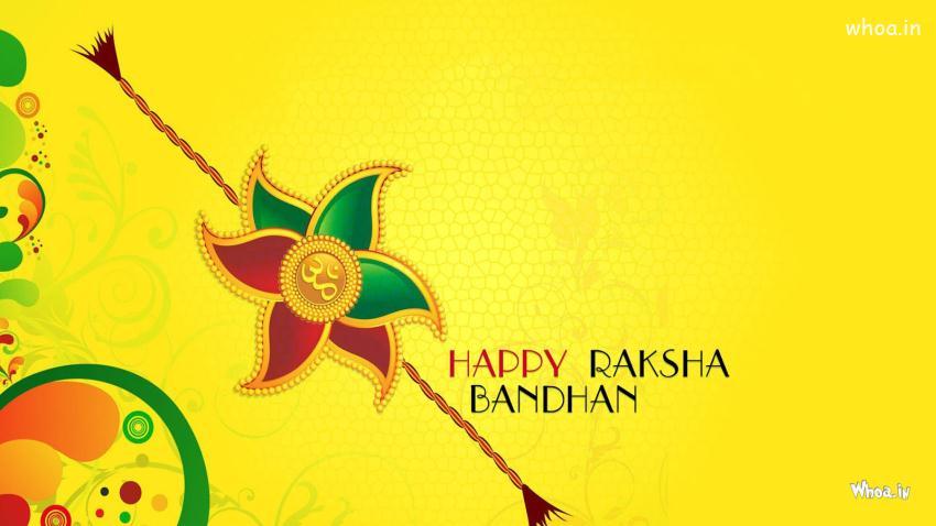 Cute Baby Birthday Wallpaper Happy Raksha Bandhan Yellow Hd Wallpaper