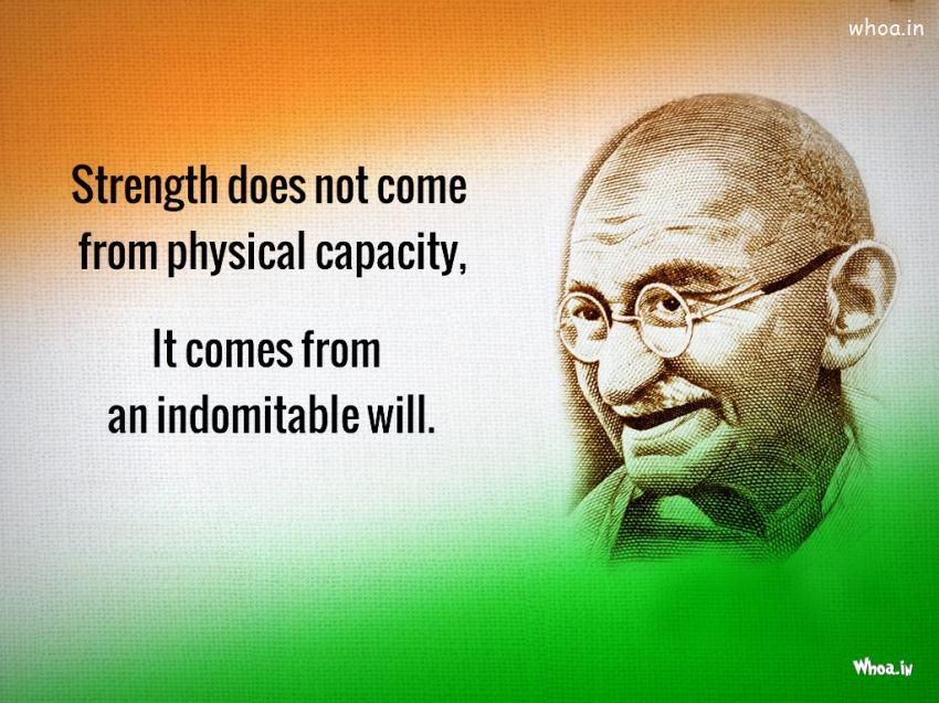 Indian Flag Wallpaper With Quotes In Hindi Leadership Quote Of Mahatma Gandhi