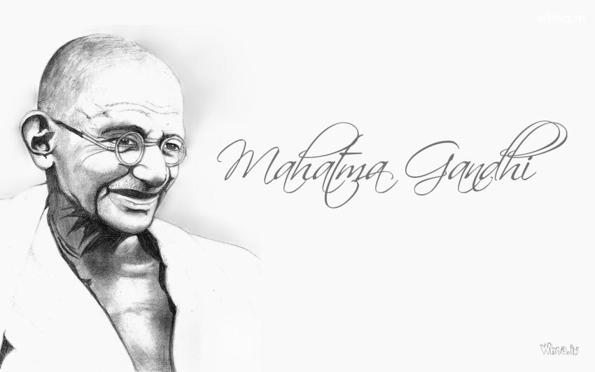 Lord Buddha Animated Wallpapers Mahatma Gandhi Pencil Art Wallpaper