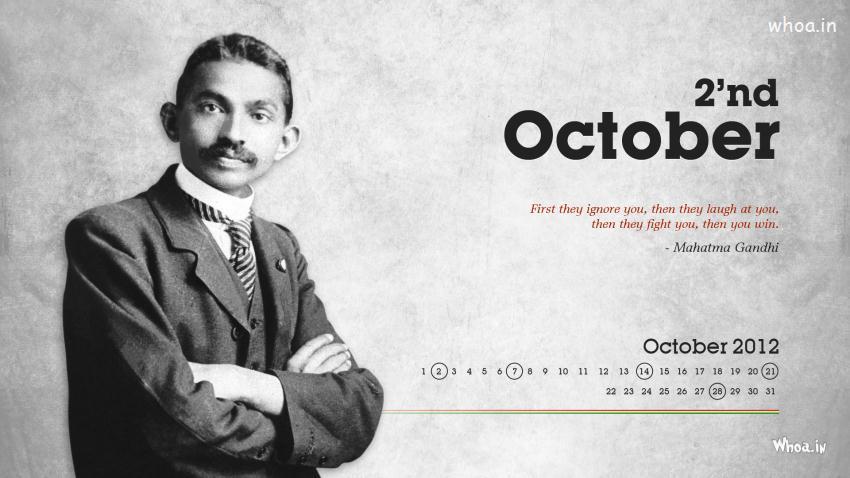 Indian Flag Wallpaper With Quotes In Hindi Mahatma Gandhi Young Wallpaper For Gandhi Jayanti