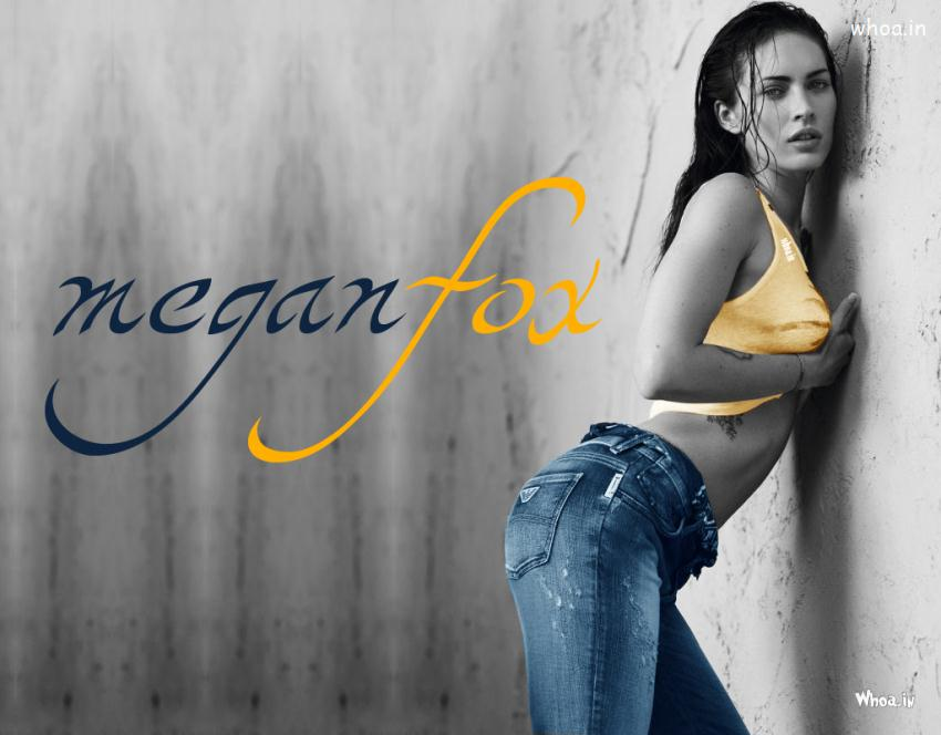 3d Hd Ganesh Wallpaper Megan Fox In Yellow Top And Blue Jeans