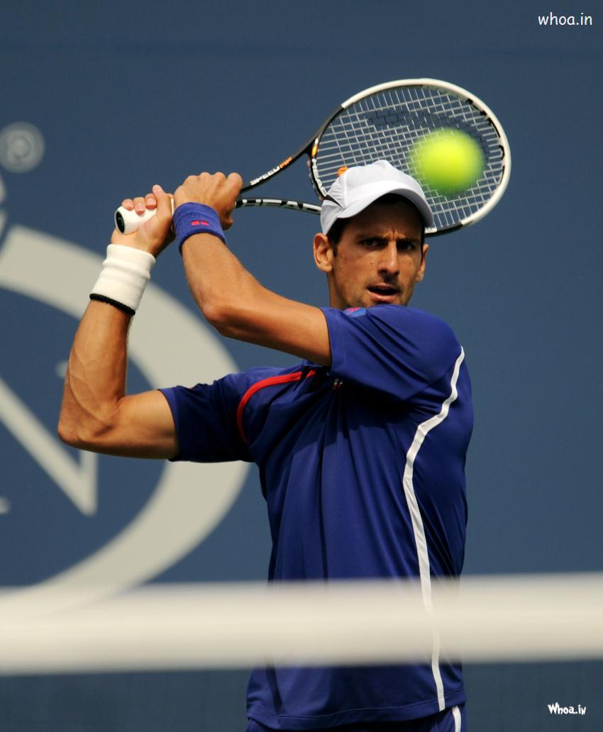 Novak Djokovic Playing Tennis Shots