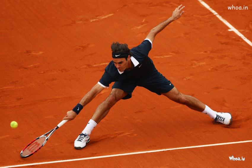 3d Action Wallpaper Hd Roger Federer Playing Tennis Hd Wallpaper