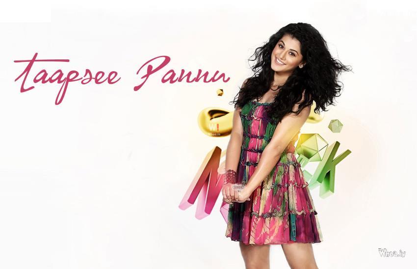 Happy Holi Wallpaper Hd 3d Beautiful Tapasi Pannu White Background Hd Wallpaper