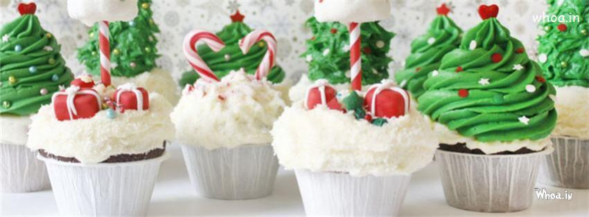 Cute Birthday Cake Wallpapers Christmas Tree Shaped Cupcake Fb Cover