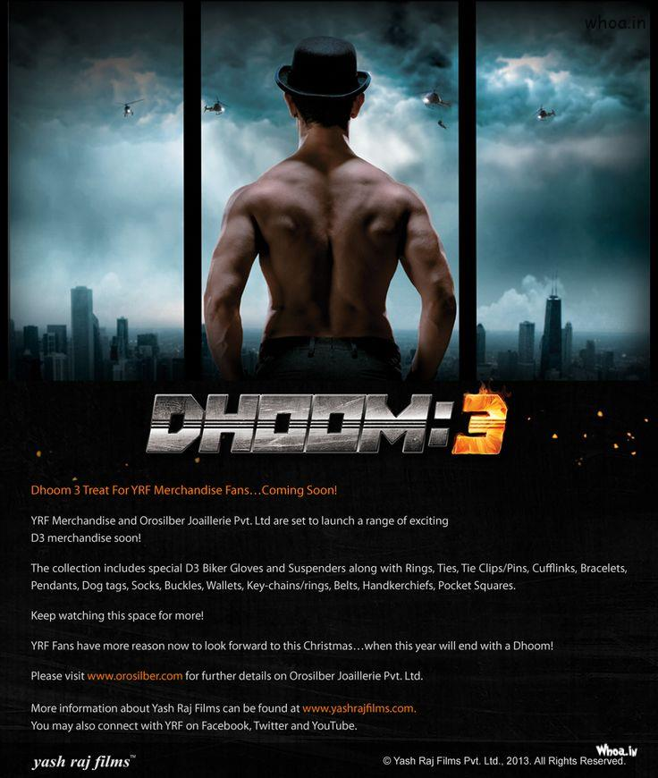 Happy Holi Wallpaper Hd 3d Dhoom 3 Action Movie Poster