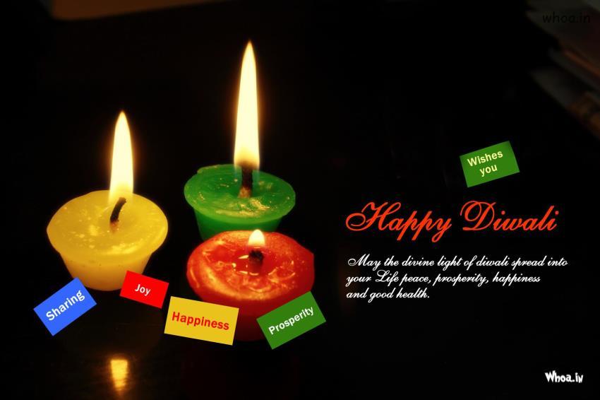 Animated Navratri Wallpapers Happy Diwali Greetings With Colorful Deepak