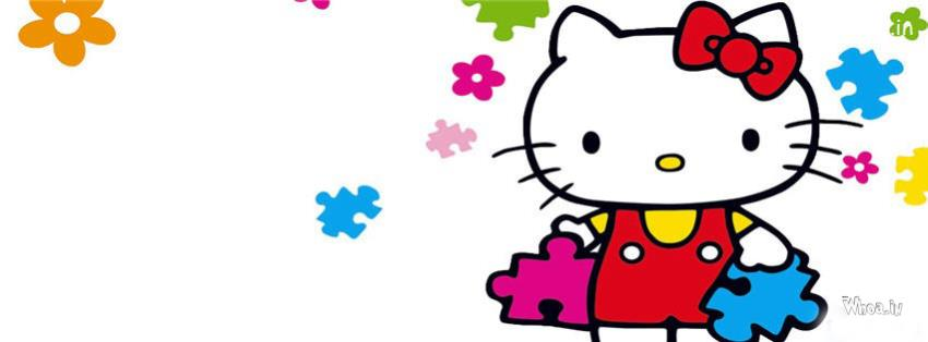 Hello Kitty Coloring Fb Cover With White Background