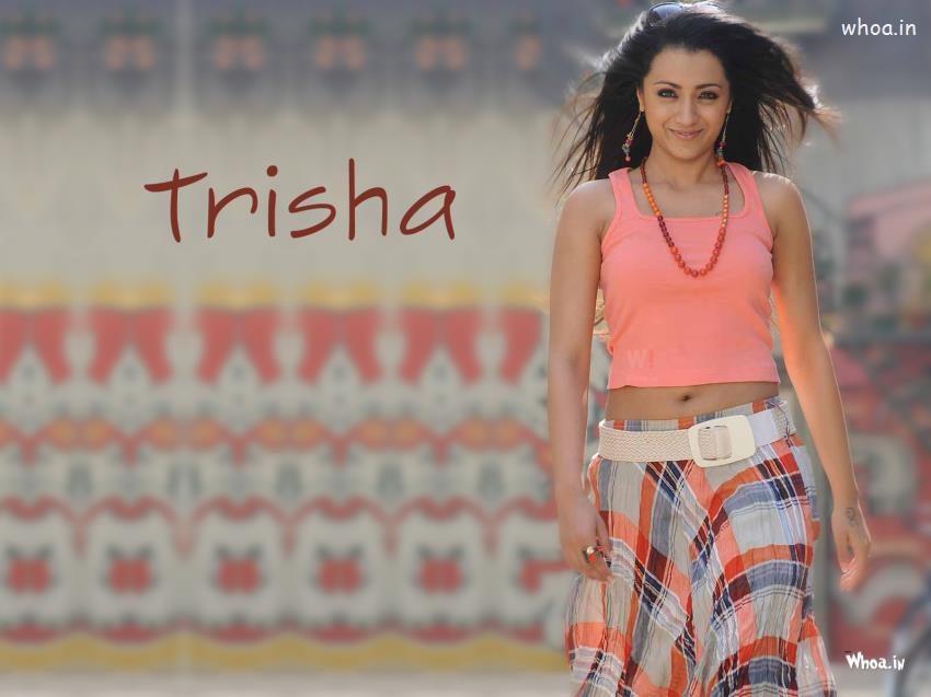 Diwali Wallpaper With Quote Trisha Krishnan Hot Navel Wallpaper