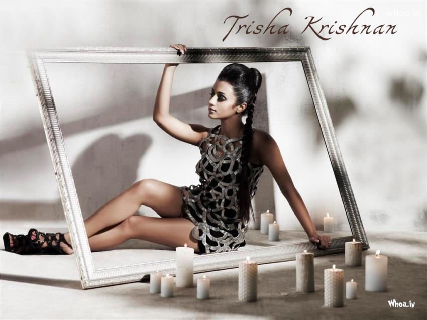 God Ganesh Hd Wallpaper Trisha Krishnan Photo Shoot In Frame