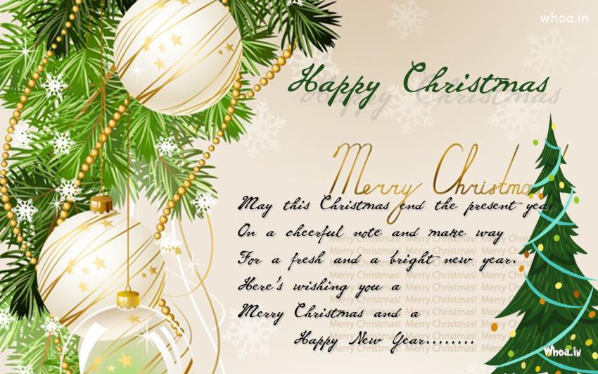 Tree Quote Wallpaper Mac Happy Merry Christmas Greeting Cards With Christmas Tree Balls