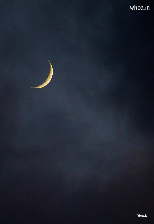 Cena Hd Wallpaper Half Moon In Dark Night Wallpaper