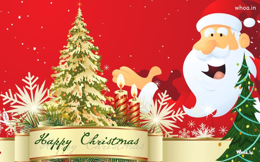 Happy Christmas Santa Claus Hd Wallpaper For Desktop