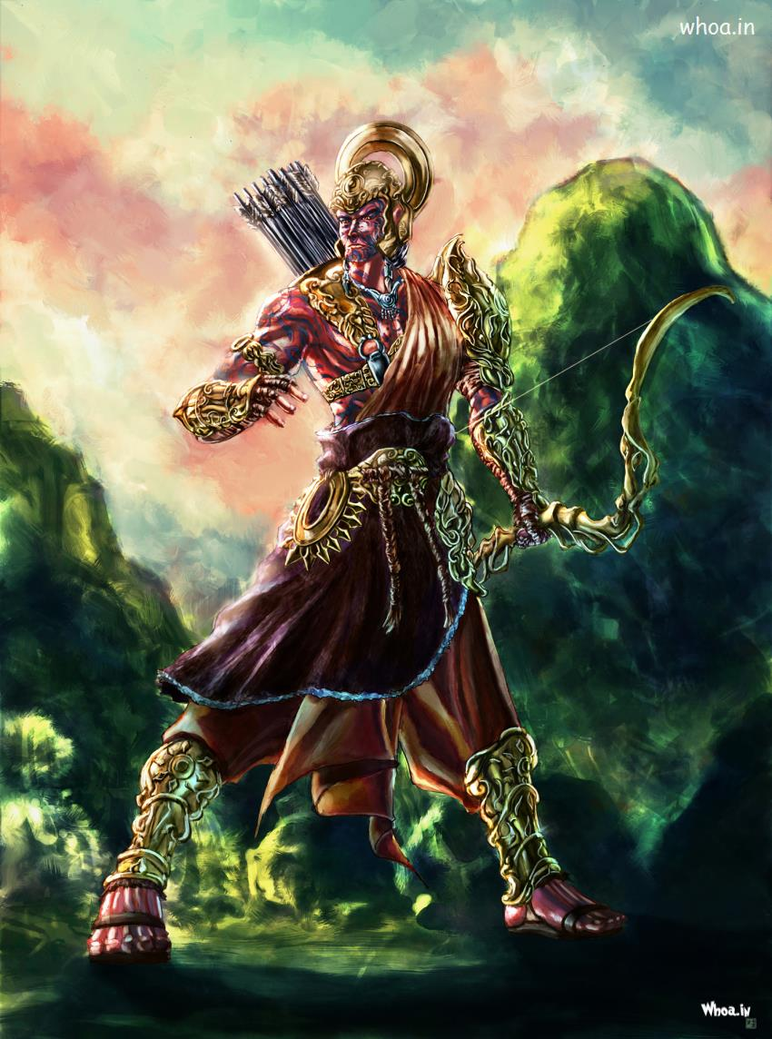 Lord Ganesha Animated Wallpapers Amazing Art Painting Of Lord Ram