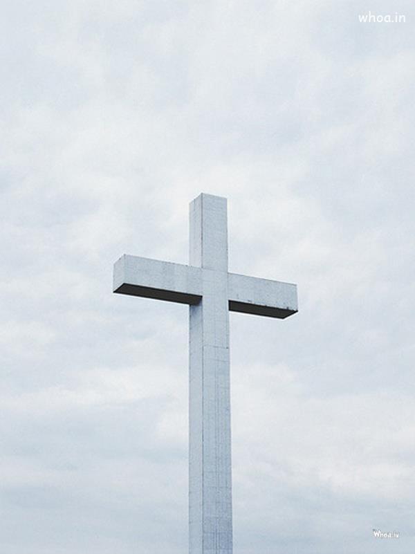 Cristian Cross In White Wallpaper