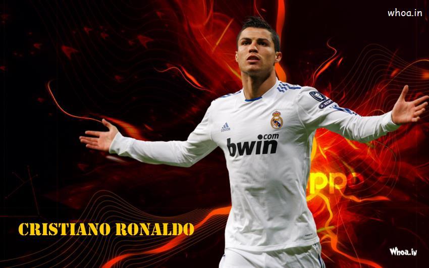 Happy Birthday Cute Baby Wallpaper Cristiano Ronaldo In White T Shirt
