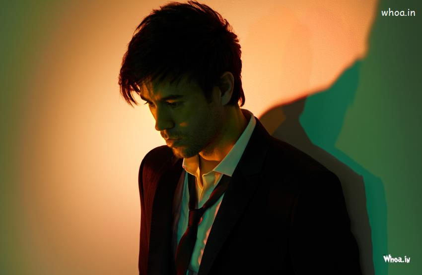 Happy Valentines Day Quotes Wallpapers Enrique Iglesias Black Suit With Sad Face Photoshoot