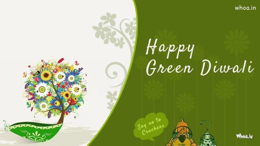Radhe Krishna Wallpaper With Quotes Happy Green Diwali Wallpapers Say No To Crackers