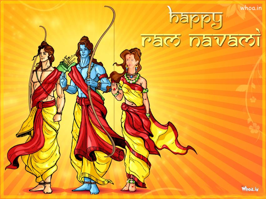 Romantic Wallpapers With Quotes In Marathi Happy Ram Navami With Lord Shri Ram Sita And Laxman Hd