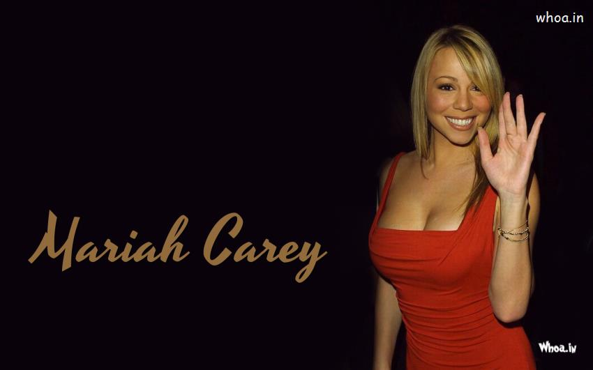 Happy Diwali Hd Wallpaper With Quotes Hot Mariah Carey In Red Dress