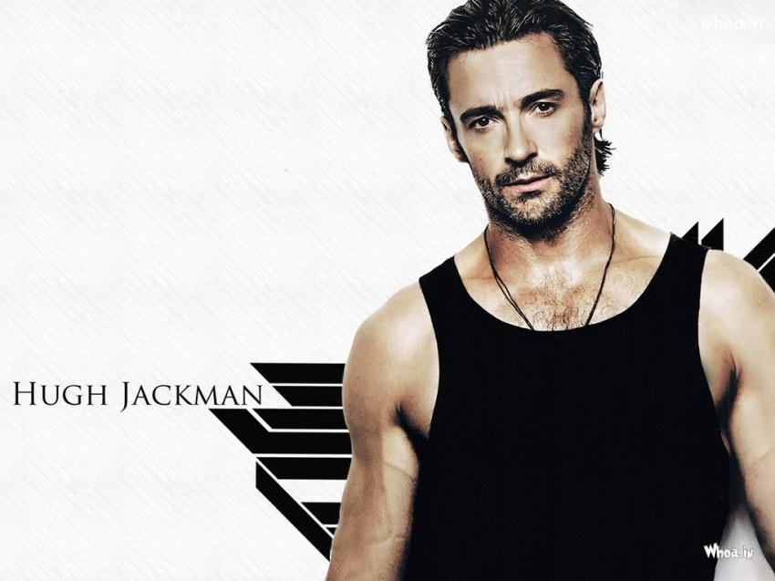 Beautiful Birthday Wallpapers With Quotes Hugh Jackman Body With White Background Wallpaper