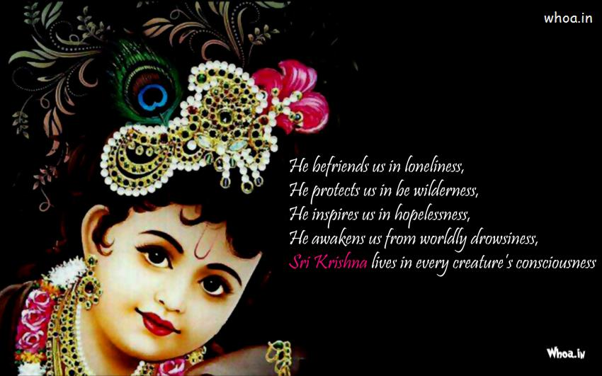 Cute Bal Ganesh Wallpaper Image Of Balkrishna With Quote Hd