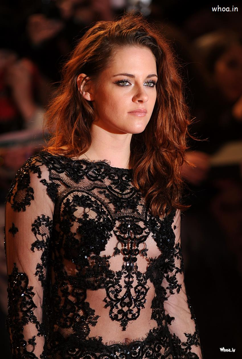 Bollywood Wallpapers With Love Quotes Kristen Stewart Black Dress With Face Closeup Hd Images