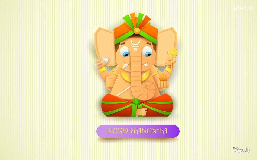 Cute Bal Ganesh Wallpaper Lord Ganesha Cartoon Hd Wallpaper