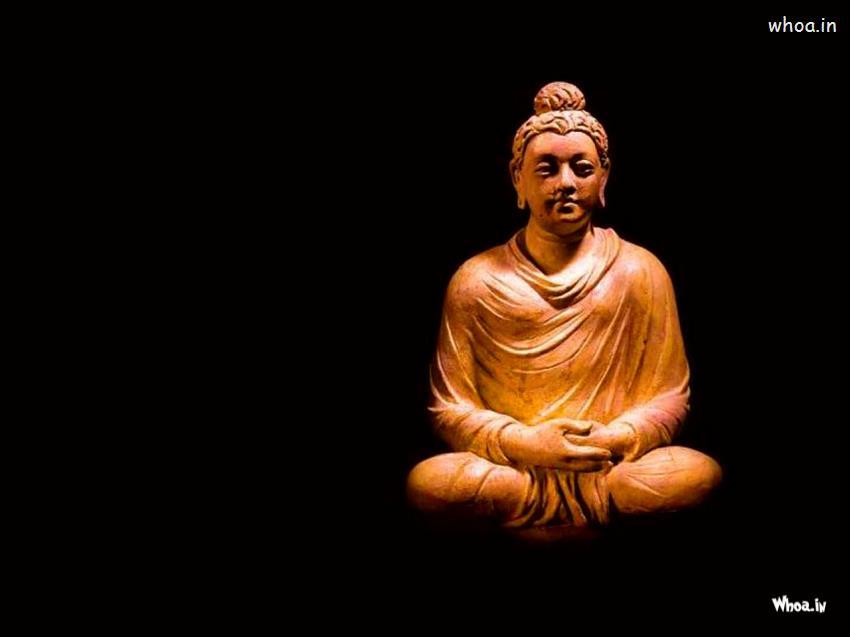 Cute Ganesh Hd Wallpaper Lord Gautama Buddha With Dark Background Wallpaper