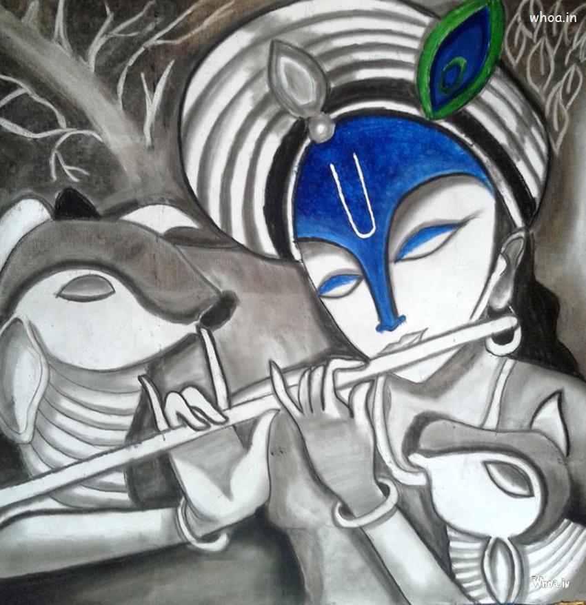 Cute Baby Girl Swing Hd Wallpaper Lord Krishna Hd Wallpaper Like Glass Painting