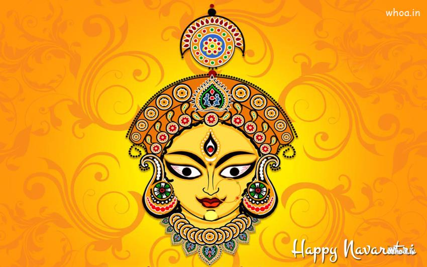 Lord Ganesha Animated Wallpapers Lord Maa Durga Bless Happy Navratri